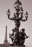Figure on Pont Alexandre III Bridge, Paris Stock Photos