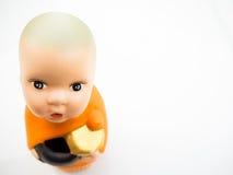 Figure poupée sur un fond blanc photo libre de droits