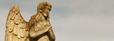 Figure of a praying angel Royalty Free Stock Photos