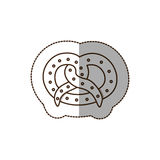 Figure pretzel bread icon. Illustraction design image Royalty Free Stock Photo