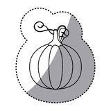 Figure pumpkin vegetable icon Stock Photo