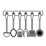 Figure rack utensils kitchen icon. Design,  illustration Stock Photo