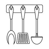Figure rack utensils kitchen icon. Image,  illustration Stock Photos