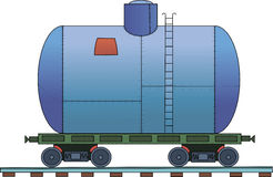 Figure railroad car on a white background. Drawing of a steam locomotive on a white background Stock Photo
