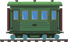 Figure railroad car on a white background. Drawing of a steam locomotive on a white background Royalty Free Stock Image