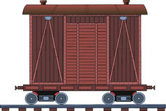 Figure railroad car on a white background. Drawing of a steam locomotive on a white background Royalty Free Stock Photos