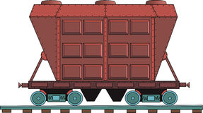 Figure railroad car on a white background. Drawing of a steam locomotive on a white background Royalty Free Stock Photo