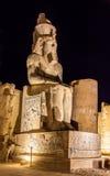 Figure of Ramses II in Luxor Temple Stock Image