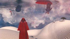 Figure in red cloak