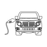 Figure refuelling gas in a car design. Illustration image Stock Images