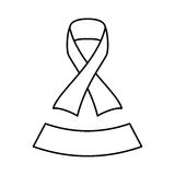 Figure ribbon breast cancer signal. Icon,  illustration Stock Images