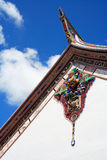 Figure in Roof of Buddhism Temple Stock Photo