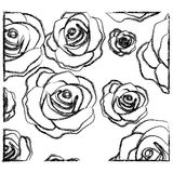 Figure roses with their petals icon. Illustraction design Stock Photos
