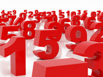 Figure rosse Fotografia Stock Libera da Diritti