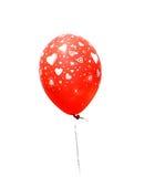 Figure rosse del cuore del wth del balllon Immagini Stock Libere da Diritti