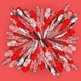 Figure rouge Image libre de droits