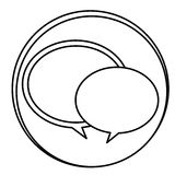 Figure round chat bubbles emblem icon. Illustraction design Stock Image