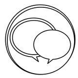 Figure round chat bubbles emblem icon Stock Image