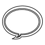 Figure round chat bubbles icon. Illustraction design Stock Photo