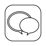 Figure round chat bubbles icon Royalty Free Stock Photo