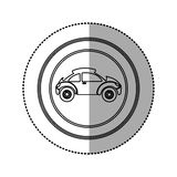 Figure round emblem side sport car icon Royalty Free Stock Image