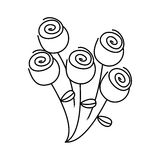 Figure round roses icon Royalty Free Stock Images