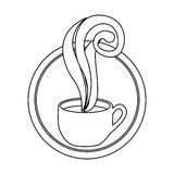 Figure round symbol of coffee cup. Illustraction design Royalty Free Stock Photos