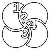 Figure rounds with number inside icon Stock Photo