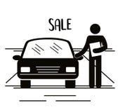 Figure salesman avatar silhouette. Vector illustration design vector illustration