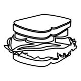 Figure sandwich fast food icon Royalty Free Stock Photography
