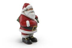 The Figure Of Santa Claus. 3D rendering. On a white background presents the figure of Santa Claus. 3D rendering Royalty Free Stock Photo