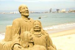 Figure sculpted in sabbia Immagine Stock Libera da Diritti