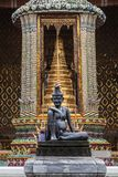 Figure of the Seated Hermit at Wat Phra Kaew royalty free stock image
