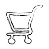 Figure shopping car icon. Illustration design Royalty Free Stock Photography
