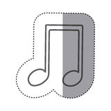 Figure sign music note icon Royalty Free Stock Photo