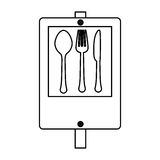 Figure signal restaurant near icon design. Illustration Stock Images
