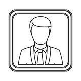 Figure silver emblem technical support man assistant. Illustraction design Stock Photo