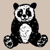 Figure sitting panda vector illustration
