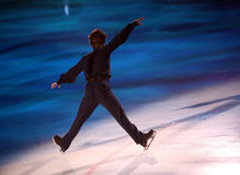 Figure skater. Professional man figure skater performing at Stars on ice show Royalty Free Stock Photo