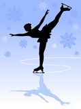 Figure skater. Silhouette of professional woman figure skater Stock Images