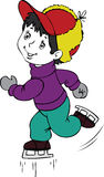 Figure skater. Illustration of the boy by figure skates Royalty Free Stock Image