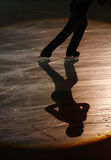 Figure skater and his shadow stock image
