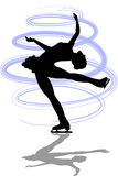Figure Skater Layback Spin/ai. Illustration of a woman figure skater doing a layback spin...ai file available Stock Photo