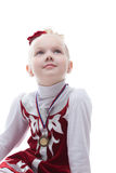 Figure skater won third place in competition Stock Photo