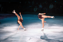 Figure skaters. Professional figure skaters performing at Stars on ice show Royalty Free Stock Photography