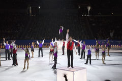 Figure skaters from Champions on Ice Stock Photography