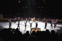 Figure skaters from Champions on Ice Stock Images