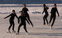 Figure Skaters Stock Image
