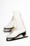 Figure skates. A pair of ice skates on a white background Royalty Free Stock Photos