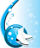 Figure skates. Composition for card. Illustration Royalty Free Stock Images